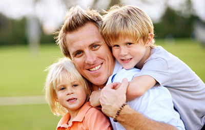father with his kids - Twiford Law Firm