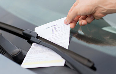 parking ticket on a car - Twiford Law Firm