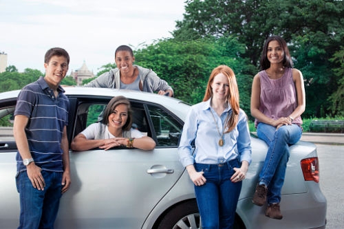 North Carolina Learner Permits: Teens with car