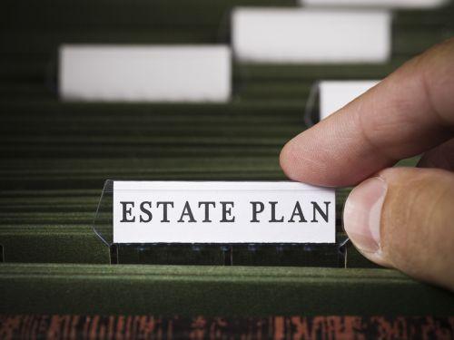 Estate plan file folder