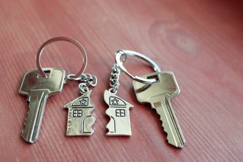 Two broken house keys